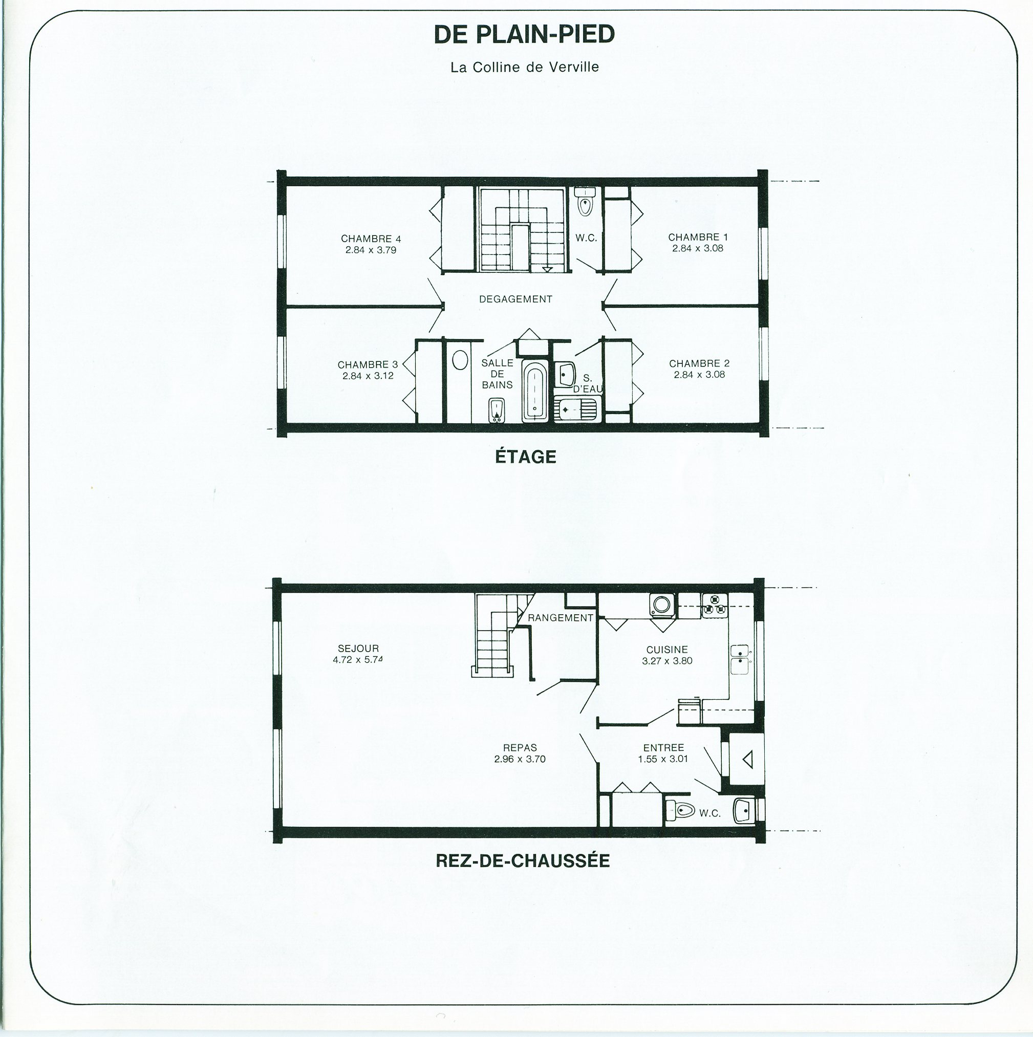 Plan Maison Mitoyenne Plain Pied. Great Mc Immo With Plan Maison ...